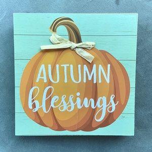 🎃 Autumn Blessings • Wooden Wall Art Decor